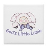God's Little Lamb Tile Coaster