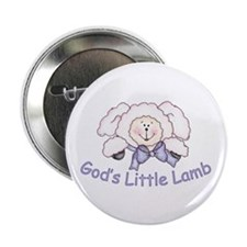 "God's Little Lamb 2.25"" Button (10 pack)"