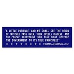 Anti-Bush T. Jefferson Quote -Bumper Sticker