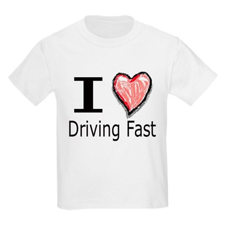 I Heart Driving Fast Kids T-Shirt