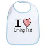 I Heart Driving Fast Bib