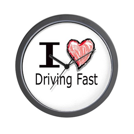 I Heart Driving Fast Wall Clock