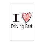 I Heart Driving Fast Mini Poster Print