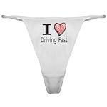 I Heart Driving Fast Classic Thong