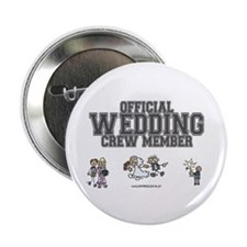 Official Wedding Crew Button