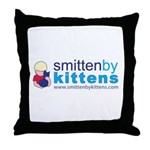 Smitten By Kittens Throw Pillow