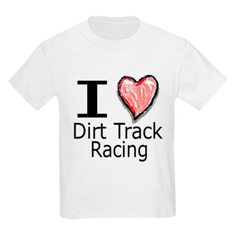 I Heart Dirt Track Racing Kids T-Shirt