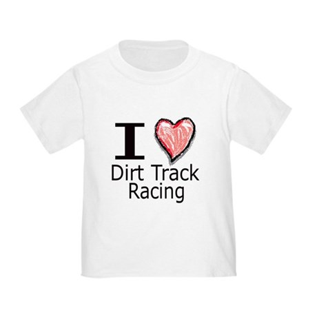 I Heart Dirt Track Racing Toddler T-Shirt
