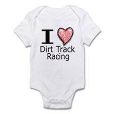I Heart Dirt Track Racing Infant Bodysuit