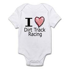 I Heart Dirt Track Racing Onesie