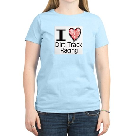 I Heart Dirt Track Racing Women's Pink T-Shirt
