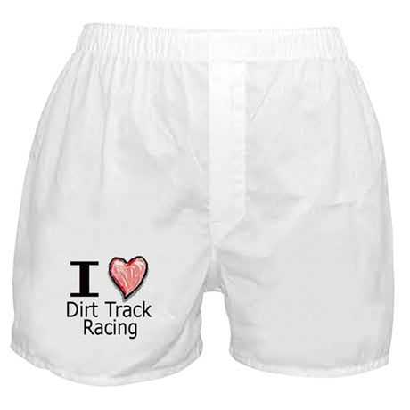I Heart Dirt Track Racing Boxer Shorts