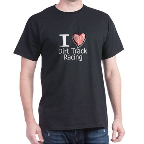 I Heart Dirt Track Racing Dark T-Shirt