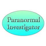 """Paranormal Investigator"" Oval Decal"