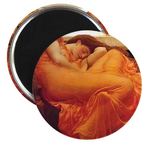 Flaming June orange woman classical art Magnet