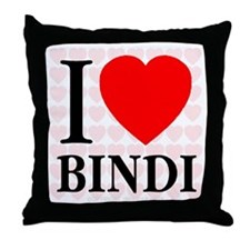 I Love Bindi Throw Pillow