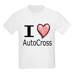 I Heart Auto Cross Kids T-Shirt