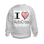 I Heart Auto Cross Kids Sweatshirt