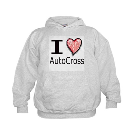 I Heart Auto Cross Kids Hoodie