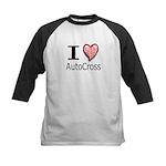 I Heart Auto Cross Kids Baseball Jersey