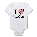 I Heart Auto Cross Infant Bodysuit