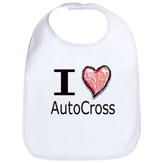 I Heart Auto Cross Bib