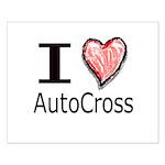 I Heart Auto Cross Small Poster