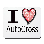 I Heart Auto Cross Mousepad