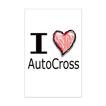 I Heart Auto Cross Mini Poster Print