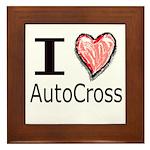 I Heart Auto Cross Framed Tile