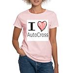 I Heart Auto Cross Women's Pink T-Shirt