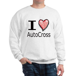 I Heart Auto Cross Sweatshirt