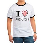 I Heart Auto Cross Ringer T