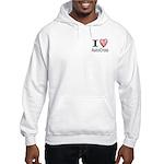I Heart Auto Cross Hooded Sweatshirt