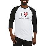I Heart Auto Cross Baseball Jersey
