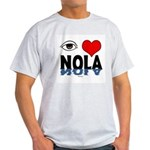 Eye Love NOLA (brown) Ash Grey T-Shirt