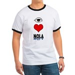 Eye Love NOLA (brown) Ringer T
