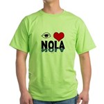 Eye Love NOLA (brown) Green T-Shirt