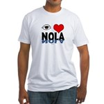 Eye Love NOLA (brown) Fitted T-Shirt