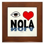 Eye Love NOLA (brown) Framed Tile