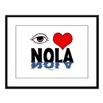 Eye Love NOLA (brown) Large Framed Print