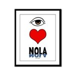 Eye Love NOLA (brown) Framed Panel Print