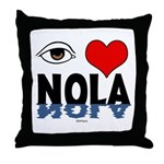 Eye Love NOLA (brown) Throw Pillow