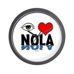 Eye Love NOLA (brown) Wall Clock
