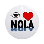Eye Love NOLA (brown) Ornament (Round)
