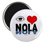 Eye Love NOLA (brown) Magnet