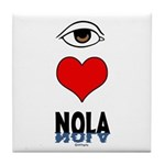 Eye Love NOLA (brown) Tile Coaster