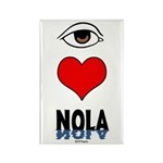 Eye Love NOLA (brown) Rectangle Magnet (100 pack)