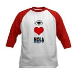 Eye Love NOLA (brown) Kids Baseball Jersey