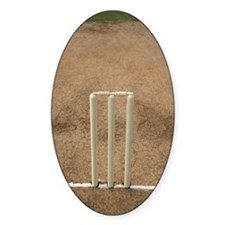 Wickets on the pitch, Top angle vie Decal